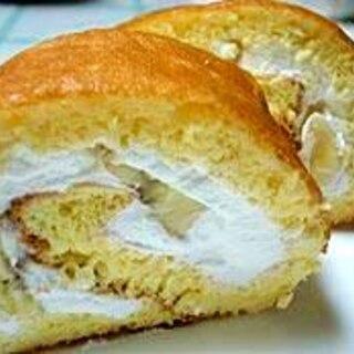 ノンオイルでバナナのロールケーキ