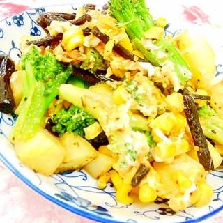 ❤ブロコと馬鈴薯と伽羅蕗(きゃらぶき)の卵炒め❤
