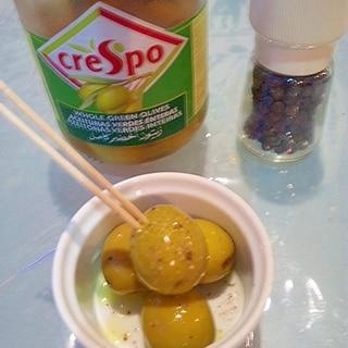 超簡単 オリーブの美味しい食べ方