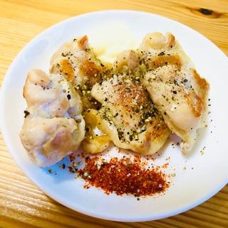 カリッカリ☆鶏肩肉(ふりそで)の塩焼き
