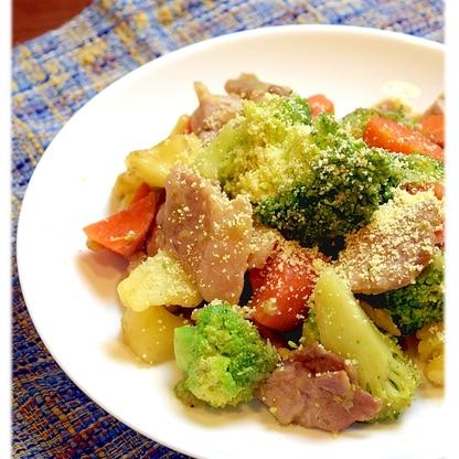 豚肉とブロッコリーのガーリック炒め