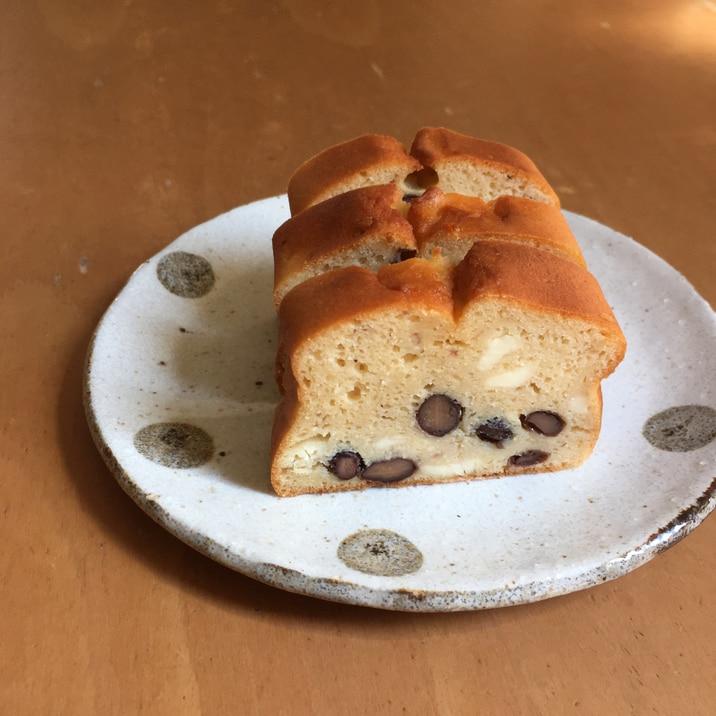 低糖質☆大豆粉黒豆とクリームチーズのケーキ