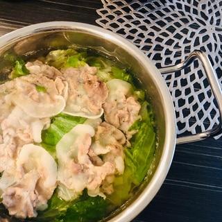 レタスひと玉消費☆豚ロースのレタス鍋