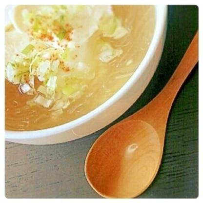春雨&豆腐 あったかスープ♪