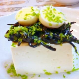 塩豆腐★常備菜ひじきに岩のり乗りたま青のり♪