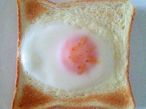 フライパン不要マヨ無しOK焦げない目玉焼きトースト
