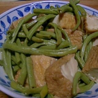 十六ササゲと厚揚げの煮物