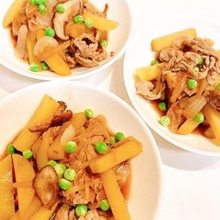 ガッツリ系☆豚肉とじゃがいものすき焼きのタレ炒め
