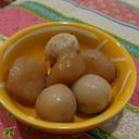 お弁当にうずらの卵と玉蒟蒻の煮物