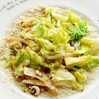 シンプルだけど美味しいキャベツ炒め♪(ネギ&生姜)