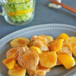 鶏むね肉の柚子ジャム照り焼き