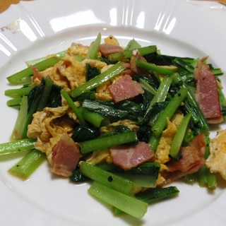 小松菜とベーコンのササッと炒め☆