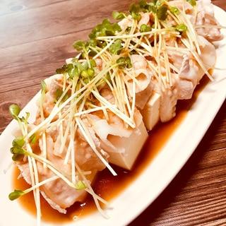 豚肉と豆腐のサラダ