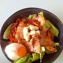 超簡単レシピ豚キムチ丼(半熟卵入り)
