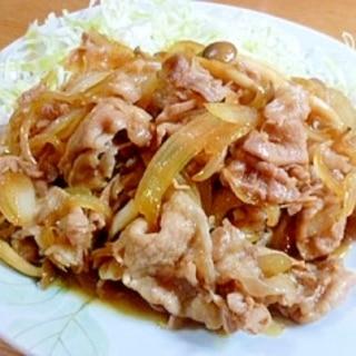 こっくり味のシメジ入り豚ロース薄切り肉の生姜焼き