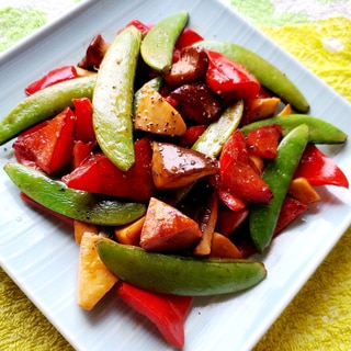 エリンギとカラフル野菜のソテー
