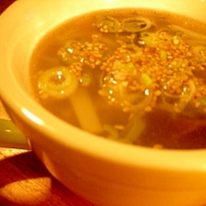 たっぷりきくらげと大根の中華スープ