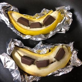 キャンプ飯スイーツ☆焼きチョコバナナ