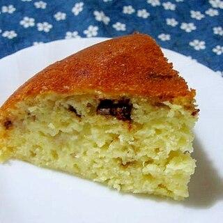 ホットケーキミックスでチョコとバナナの炊飯器ケーキ