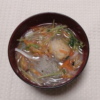 つくね入り春雨野菜スープ