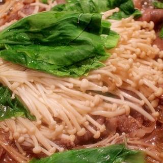 【超簡単】フライパンですき焼き風一人鍋