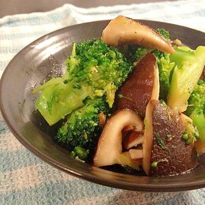 肉厚な椎茸とブロッコリーのオイスターソース炒め