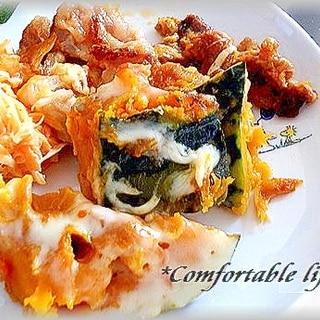 """★""""かぼちゃと豚肉のチーズケチャップ炒め"""