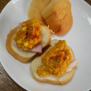 ハムとかぼちゃチーズのパン