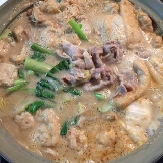 豆腐で?!ふわトロ坦々ごま豆乳鍋