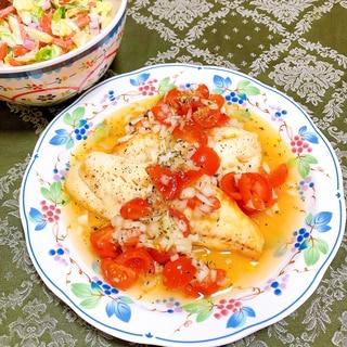 白身魚のグリル プロヴァンス風ソース