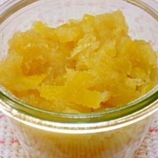 晩白柚の皮ジャム