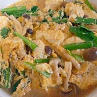 豆腐とニラの卵とじ
