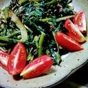 茄子と空芯菜のガーリック炒め