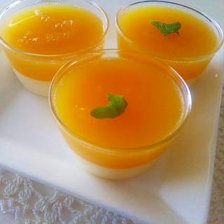 オレンジゼリーとババロアのひんやりスイーツ♪