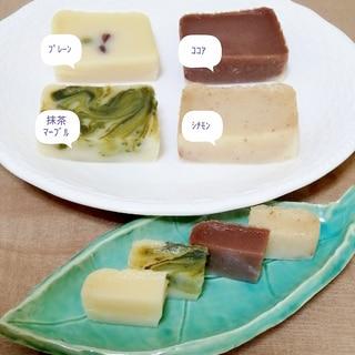 充填豆腐の容器で蒸すよ!同時に4種♡豆腐ういろう