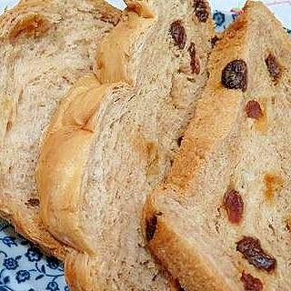 食パンミックス粉で、シナモンレーズンパン