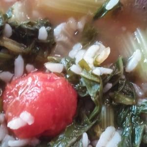 プチトマトとルッコラのスープ