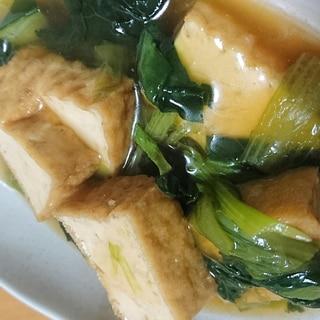 厚揚げと小松菜の煮物あんかけ