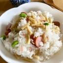 さっぱり簡単♡細切り高野豆腐と紅生姜のまぜ寿司