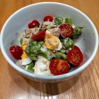 レンジ調理☆ブロッコリーの彩りサラダ