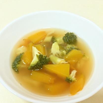 南瓜とブロッコリーのスープ