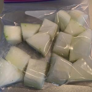 とうがん(冬瓜)は冷凍保存できますよん♪