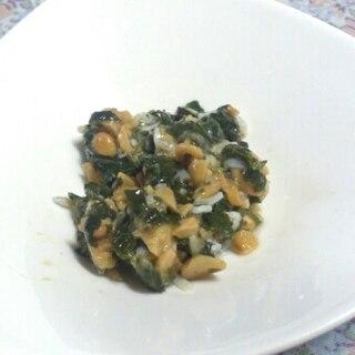 離乳食中期~☆しらす・納豆・青菜のあえ物