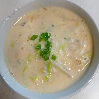 ◇白菜 豆乳 味噌 たまごおじや◇