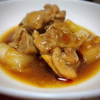 鶏肉とねぎの中華風煮