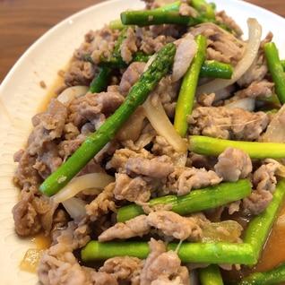 ご飯が進む☆豚肉とアスパラの生姜焼き