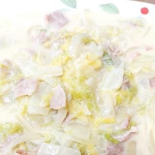 ホットクックでトロトロ白菜とベーコンのクリーム煮♪