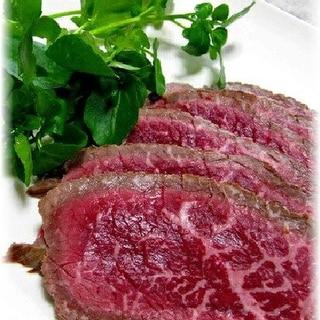 お酢でやわらか・牛肉たたきのカルパッチョ風
