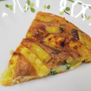 さつまいもとチーズのスパニッシュオムレツ
