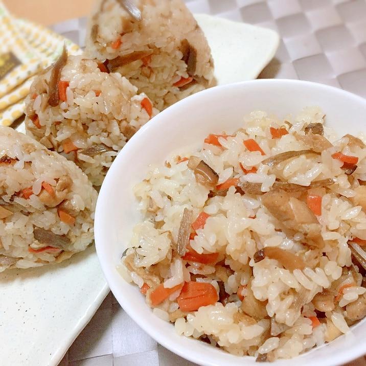 土鍋で炊く♡かしわ飯(鶏ゴボウの炊き込みご飯)